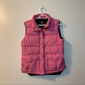 J Crew Puffer Small Vest Down Filled Feathers